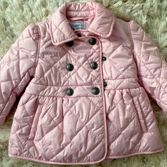Ralph Lauren Toddler Girl pink Puffer Jacket 12-18